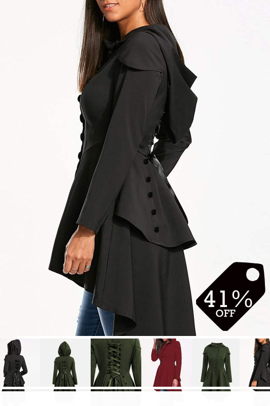 Single-Breasted Long Fall Long Sleeve Trench