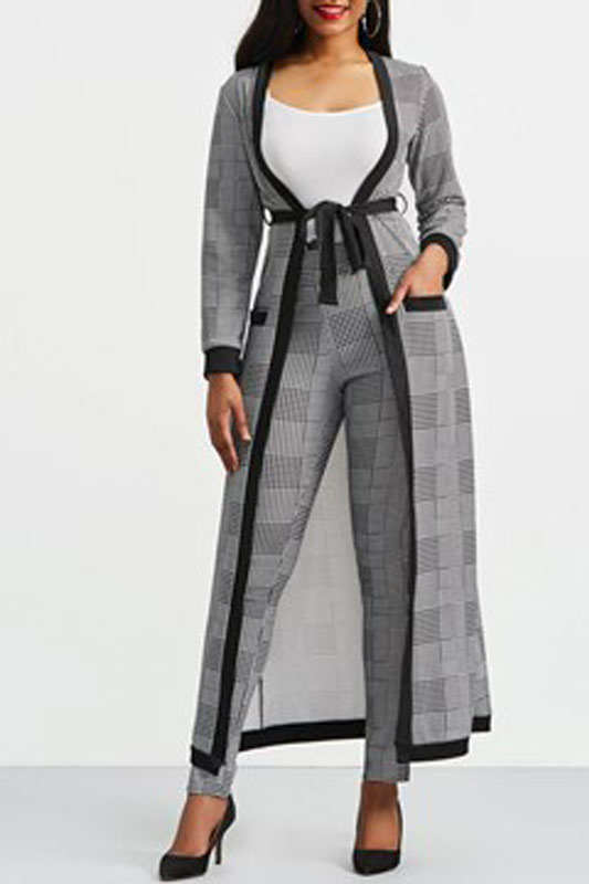 Vest,Trench Coat & Pants Womens-Suit